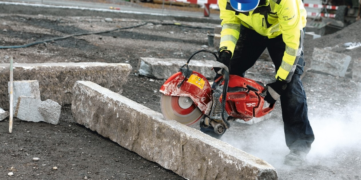 Dust is created at nearly every point in the construction process including cutting concrete