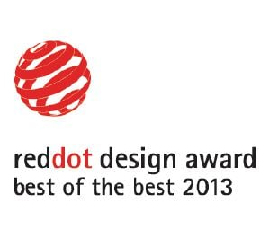 "Denna produkt har tilldelats Red Dot designpris ""Best of the Best""."
