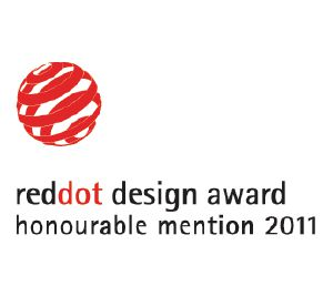 "Denna produkt har tilldelats Red Dot designpris ""Honourable Mention""."
